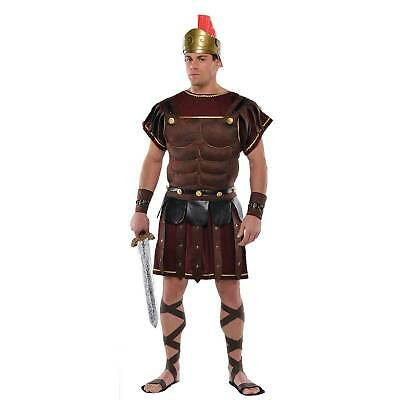 Adults Roman Soldier Dress-Up Set Mens Fancy Dress Outfit Accessory