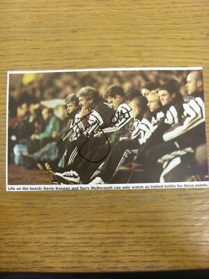 1992-1998 Autograph(s): Newcastle United - Terry McDermott [Hand Signed Colour M