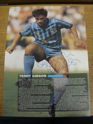 1983-1986 Autograph(s): Coventry City - Terry Gibson [Hand Signed Colour Magazin