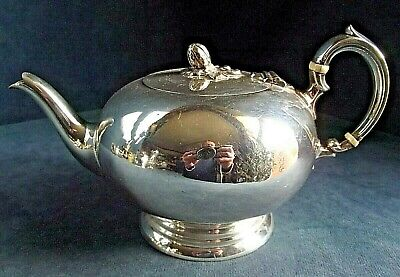 GOOD Large ~ SILVER Plated ~ Bulbous TEAPOT ~ c1900 by Mappin & Webb