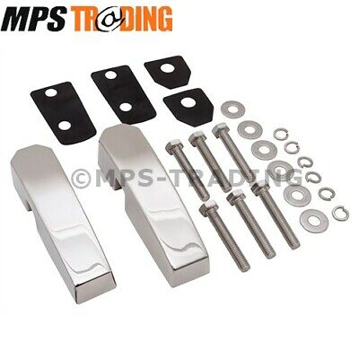Land Rover Defender Polished Stainless Steel Windscreen Bracket Set - Da1142Ss