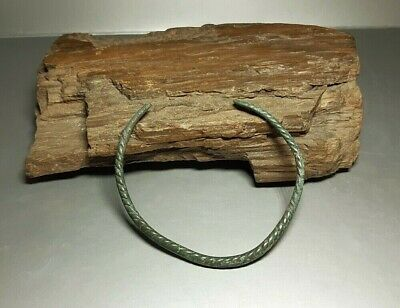 Nice Ancient Viking Twisted Bronze Braselet  Kievan Rus. 9-12 cen. AD  #2587