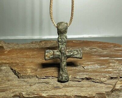 Perfect Ancient Byzantine Reliquaty Cross Pendant 9-12 cen. AD Viking AGE. #2589