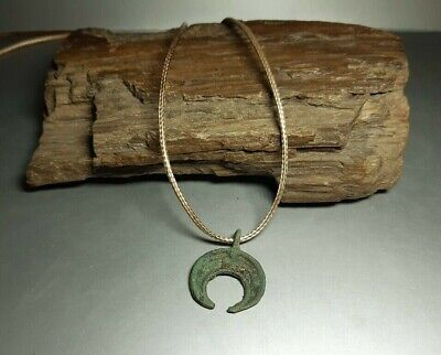 Ancient Viking Bronze Pendant Lunula Moon Kievan Rus Viking 9-12 cen.AD#2593