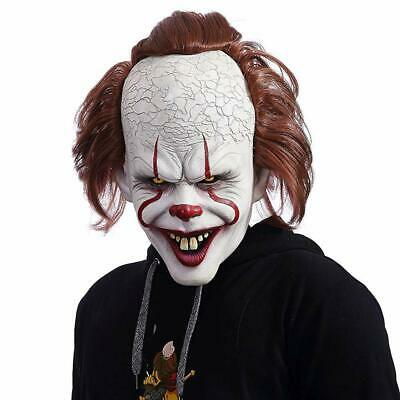 NUWIND Pennywise Masque Latex de Clown Effrayant Costume pour Cosplay,