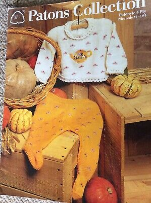 Vintage Patons Baby Knitting Pattern Book Patons Collection Patonyle 4 Ply
