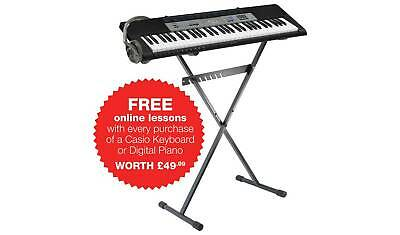 Piano Keyboard Stand & Headphones Musical Instrument Electronic X-mas Gift