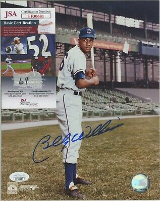 Billy Williams Signed 8X10 Photo Chicago Cubs HoF Autograph AUTO COA JSA