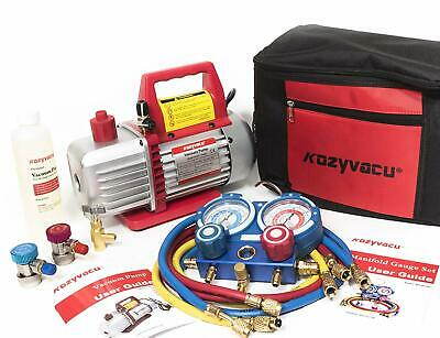 Kozyvacu AUTO AC Repair Complete Tool Kit and Acccessories