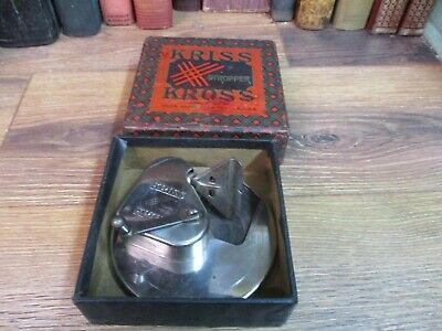 Vintage KRISS KROSS Automatic Razor Blade Sharpener STROP Stropper MADE USA