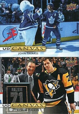 2019-20 Upper Deck Series 1 Ud Canvas Singles - You Pick And Complete Your Set