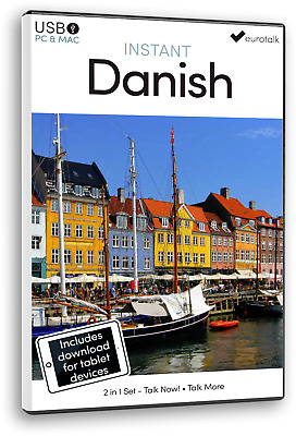 Eurotalk Instant Danish - 2 Product Set - USB and Talk Now tablet download