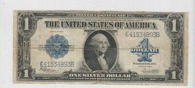 Silver Certificate $1 1923  one old note fine stains