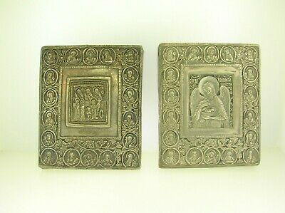 Nice Pair Of Antique Russian Silver Icons - Hallmarked And Dated - Best Offer!!!
