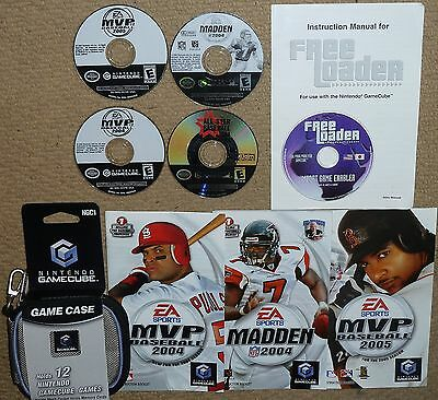 FREE LOADER Import Game Player UK NINTENDO GAMECUBE 4 Games Madden Baseball MVP