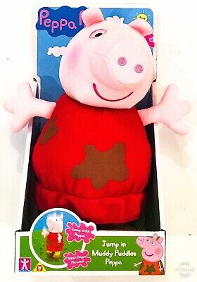 Jump In Muddy Puddles Peppa Pig Plush Toy New Girls Boys Xmas Gift For 3+ Years