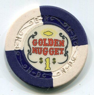 $1 Golden Nugget - GN Mold - Blue and White