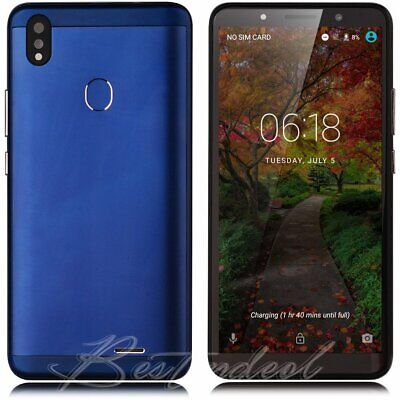 """Android 8.1 Cell Phone Unlocked Dual SIM GSM Smartphone 4GB Quad Core 6.0"""" GPS"""