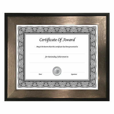 """""""Director Series Document And Photo Frame, 8 1/2 X 11, Mahogany/silver frame"""""""