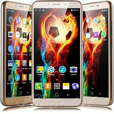 """Android 8.1 Unlocked 5.5"""" Cell Phone Quad Core Dual SIM AT&T T-Mobile Smartphone"""