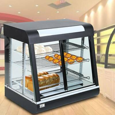 Commercial Food Warmer Hot Pizza Pie Display Showcase Tempered Glass RIDGEYARD
