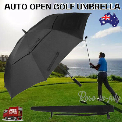 Extra Large Double-canopy Windproof Waterproof Automatic Open Golf Umbrella wt