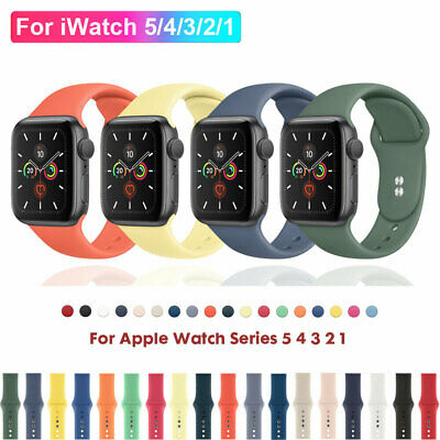 For Apple Watch Series 5 4 3 2 1 Silicone Sports Band Strap iWatch 38/42/40/44mm