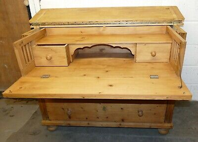 Antique Old Pine Fall Front Secretaire/Chest of Drawers