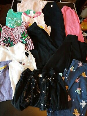 Bundle girls clothes ages 3-8 yrs pjs tops skirt tshirts vests  trousers L55Y