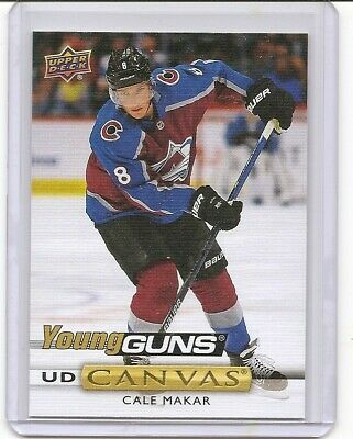 2019-20 Upper Deck Series 1 Cale Makar Canvas Young Guns Insert Card Avalanche