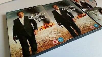 Quantum of Solace (DVD, 2009, 2-Disc Set, Box Set) - Used, Tested, In Sleeve
