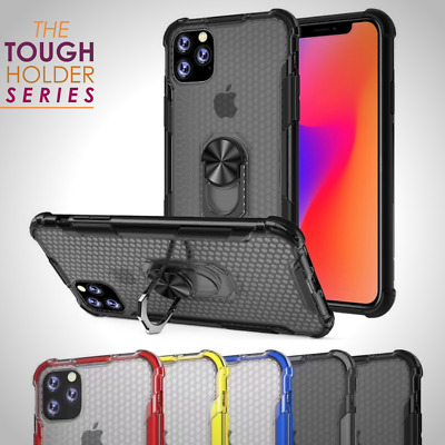 Rugged Stand Case For iPhone 11 Pro Max XR XS 8 7 Hybrid TPU Car Magnetic Cover