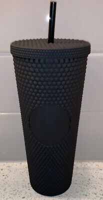 Starbucks Fall 2019 Matte Black Studded Plastic Tumbler Cold Cup Limited Edition