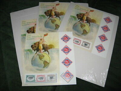 Us Scott 3505, 2001 Pan-American Expo Invert Stamps Centennial, Nip, 4 Available