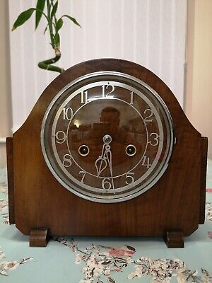 Enfield Vintage Chiming Mantel Clock Fully Working With Key
