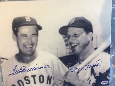 TED WILLIAMS AND STAN MUSIAL AUTOGRAPHED 8x10 PHOTOGRAPH...CERTIFIED