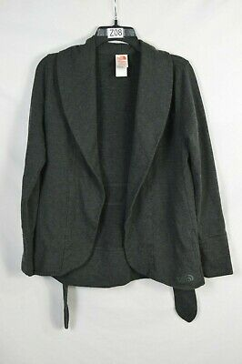 The North Face Knit Belted Blazer Charcoal Gray Size Small Euc