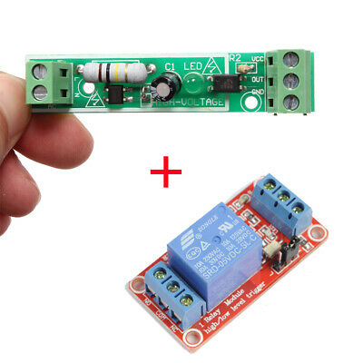 AC 220V Optocoupler Isolation Module + 5V 1-Channel Relay Module for Arduino