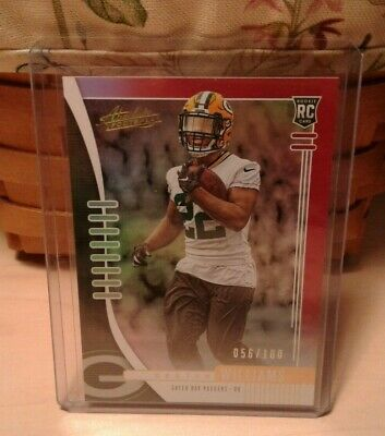2019 Absolute Football #157 Dexter Williams RC - Red Spectrum 56/100 - Packers