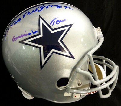 Ed Too Tall Jones Autographed Cowboys Full Size Helmet Am Team Psa/Dna 53218