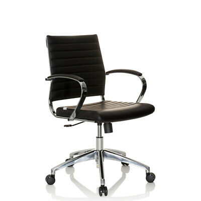 Office Chair Executive Chair Black Chrome PU-Leather Design PAAVO II hjh OFFICE