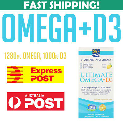 Nordic Naturals Ultimate Omega D3 Lemon 1280 mg 1000 IU 120 caps 0768990027949