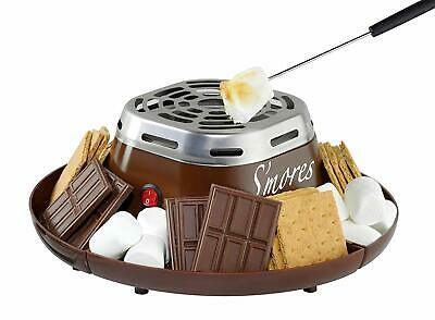 Nostalgia SMM200 Indoor Electric Stainless Steel Smores Maker with 4 Compartmen