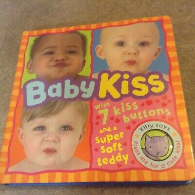 Baby Kiss. Board Book. 7 Kisses And A Super Soft Teddy.