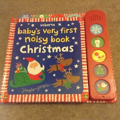 Usborne Baby's Very First Noisy Book Christmas. Interactive Sounds.