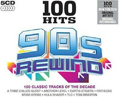 100 Hits 90s Rewind 5-CD Box Set NEW SEALED Suede/Reef/TLC/E-17/Farm/Space/Aswad