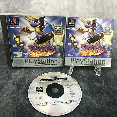 Spyro Year Of The Dragon PS1 PlayStation 1 PAL Game Complete Platinum Spyro 3