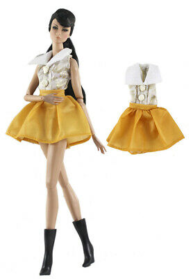 Fashion  OL Rose Top+Skirt dress Suit clothes Outfit  For 11.5in.12 inch Doll