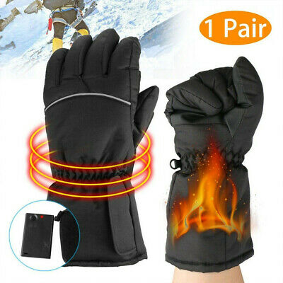 Electric Battery Powered Touchscreen Ski Thermal Winter Heated Gloves Men Women