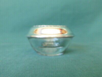 Fine Arts Sterling Silver and Glass Individual Salt Cellar